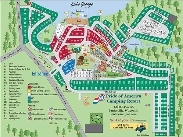 Pride of America Camping Resort Map